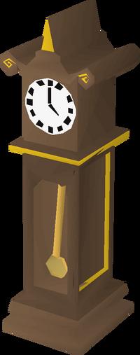 Gilded clock built