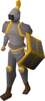 Steel gold-trimmed set (lg) equipped