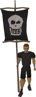 Guilded smile flag equipped