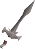 Leaf-bladed sword detail