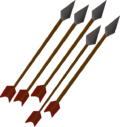 Iron arrows detail