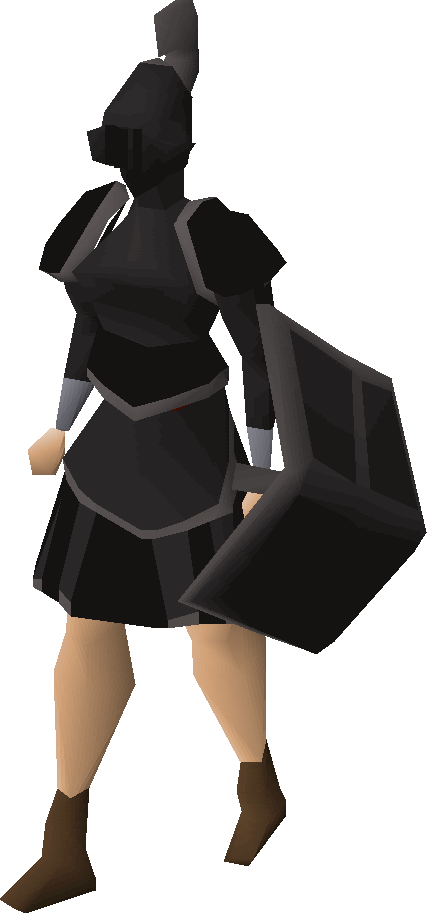 Black trimmed set (sk) equipped