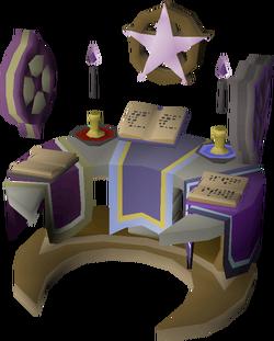Occult altar built