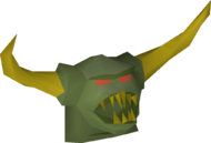 Jungle demon mask detail