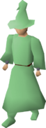 Green robes equipped