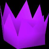 Purple partyhat detail