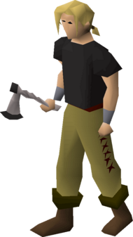 3rd age axe equipped