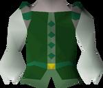 Green elegant shirt detail