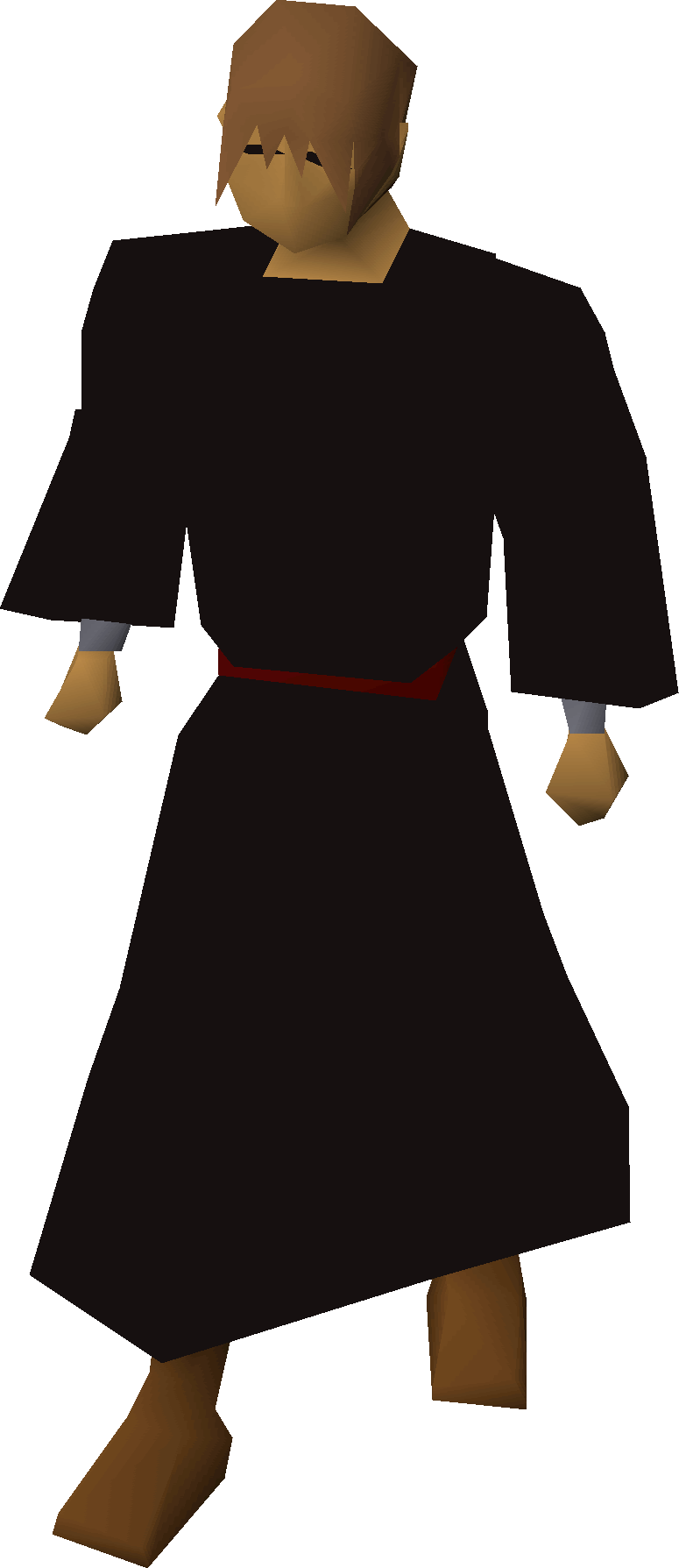 Priest gown equipped