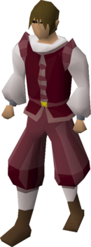 Red elegant clothing (male) equipped