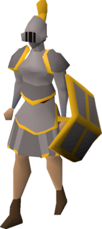 Steel gold-trimmed set (sk) equipped