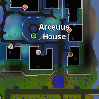 Hot cold clue - Arceuus house entrance map