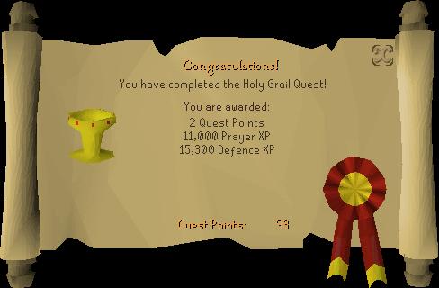Holy Grail reward scroll