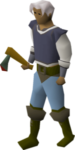 Adamant axe equipped