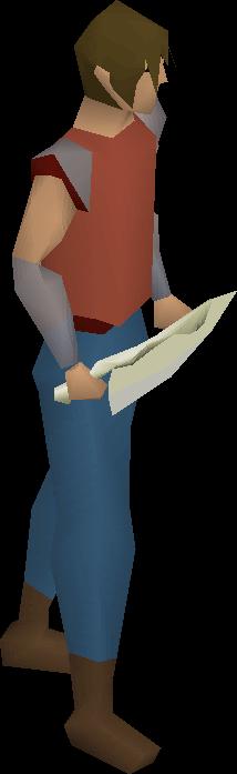 Bone dagger equipped