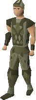 Snakeskin armour equipped