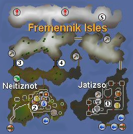 The Fremennik Isles quest map