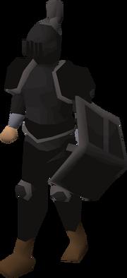 Black trimmed set (lg) equipped