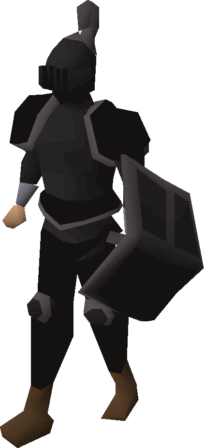 Black trimmed set (lg) equipped