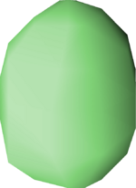 Bird's egg (green) detail