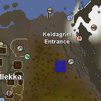 Hot cold clue - near Keldagrim entrance mine map