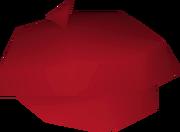 Red beret detail