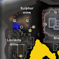 Hot cold clue - sulphur mine map