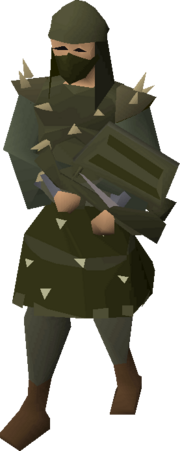 Karil's armour equipped