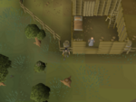 Emote clue - wave south fence lumber yard
