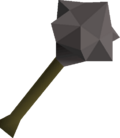 Iron mace detail