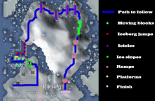 Penguin agility course map