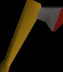 Iron axe detail