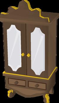 Gilded wardrobe built