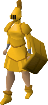 Gilded plateskirt equipped