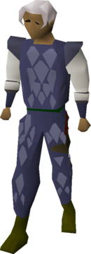 Blue d'hide armour equipped