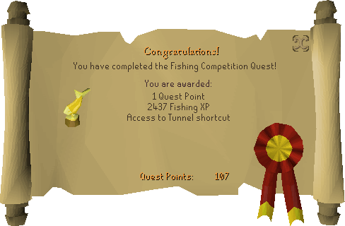 Fishing Contest reward scroll