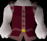 Red elegant shirt detail
