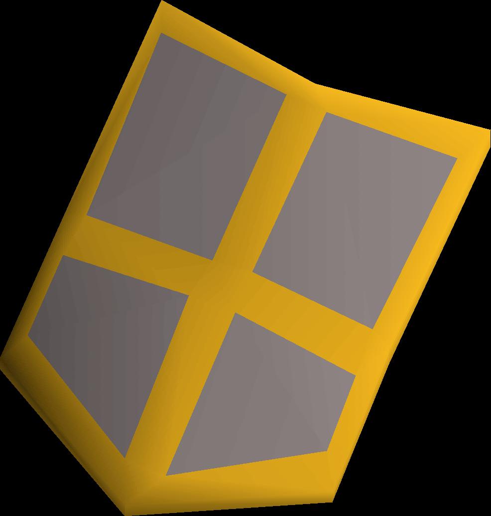 Steel kiteshield (g) detail