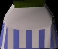 White decorative skirt detail