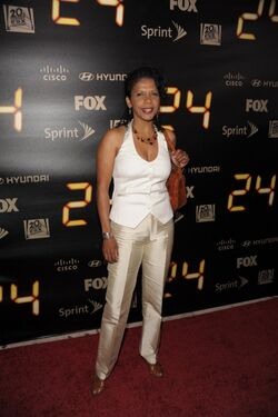 24- Penny Johnson Jerald at series finale party in 2010