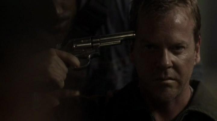 Jack Bauer (Kiefer Sutherland) spins the barrel in Season 3 of 24