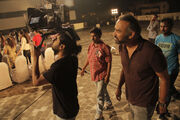 24 India director Abhinday Deo directing the DPs on-set