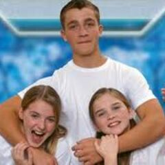 The Holt Kids in white t-shirts