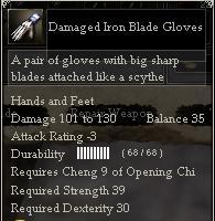 Damaged Iron Blade Gloves