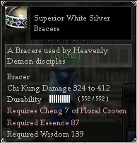 Superior White Silver Bracers