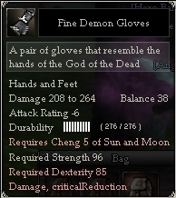 Fine Demon Gloves