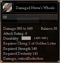 Damaged Nuwa's Wheels