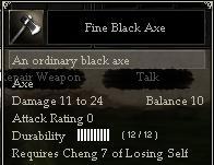 Fine Black Axe