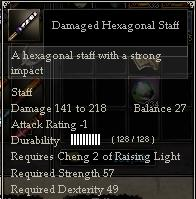Damaged Hexagonal Staff