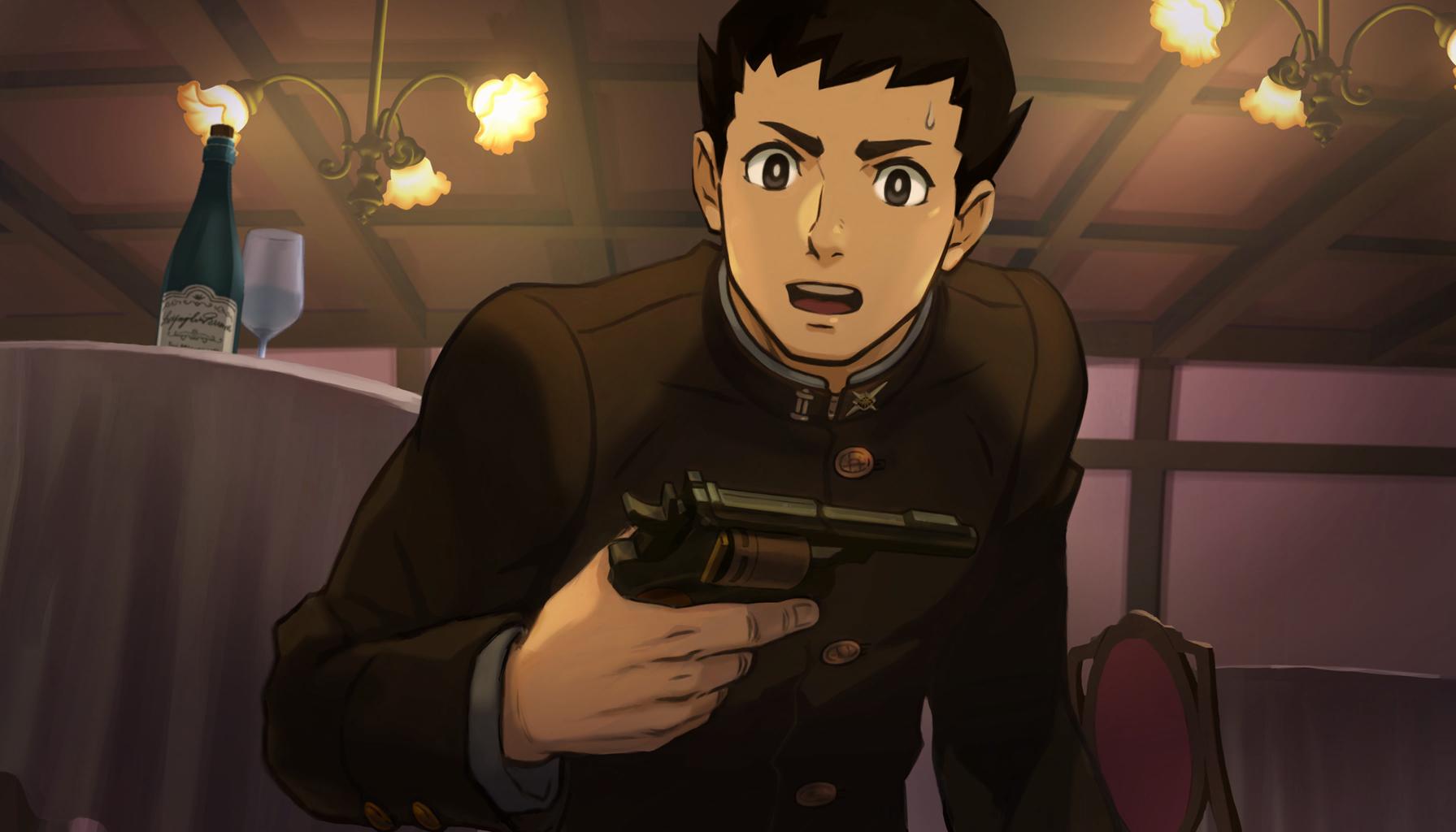 File:Ryuunosuke With A Gun.png